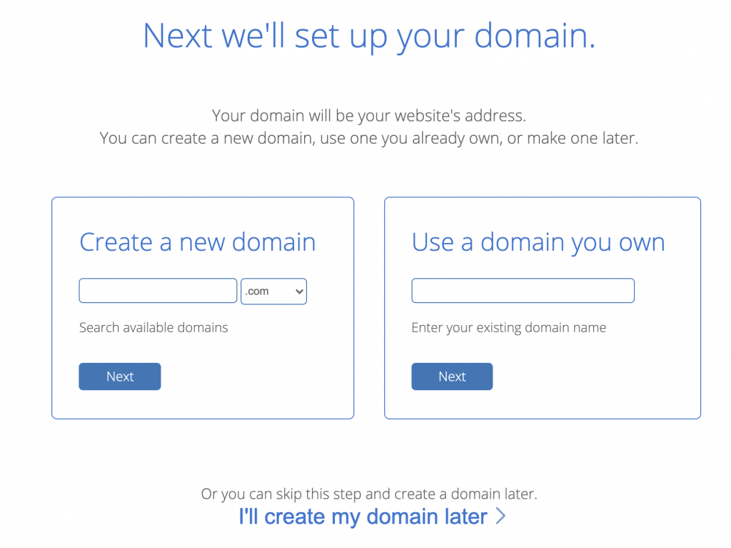 Bluehost Domain Setup