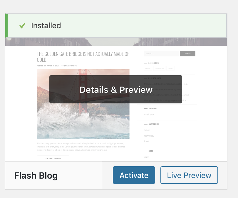 Flash Blog Install